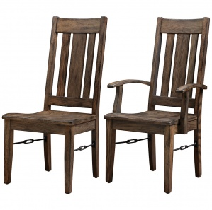 Ouray Amish Dining Chairs  sc 1 st  Cabinfield & Amish Rustic Dining Table Set:Wood Dinner Table Wood Bench Mission ...