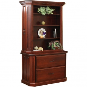 Fifth Avenue Lateral File Amish Cabinet & Hutch Option