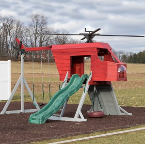Helicopter Amish Playset