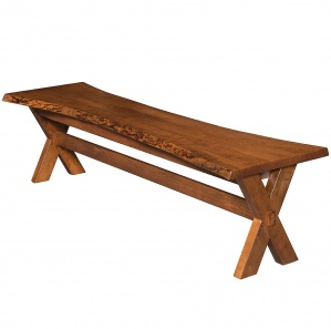 Frontier Live Edge Amish Bench