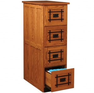 Mission Wood File Cabinet