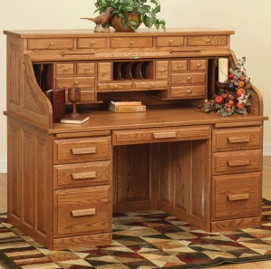 Traditional Roll-Top Amish Desk