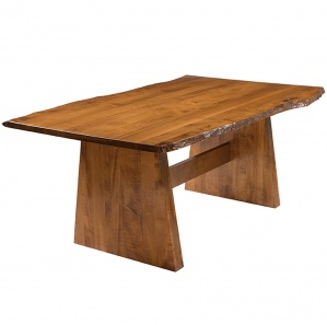 Bayport Live Edge Amish Dining Table
