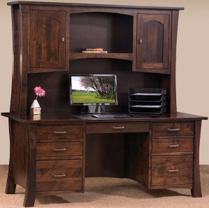 Fair Park Computer Desk with Amish Hutch Option