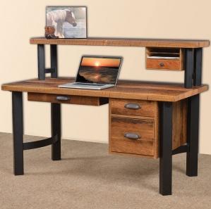 Millennium Amish Computer Desk with Shelf