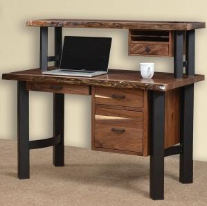 Millennium Live Edge Desk & Hutch Option