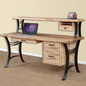 Euro Writing Amish Desk with Optional Organizer