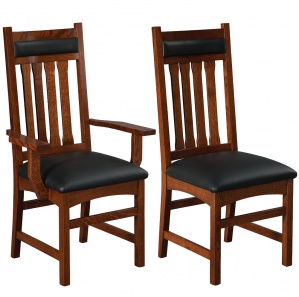 Monterey High Back Amish Dining Chairs