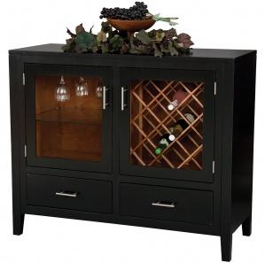 Capri Amish Wine Cabinet