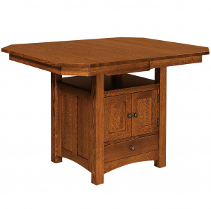 Bassett Counter Height Cabinet Amish Dining Table