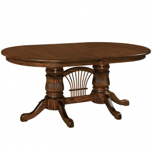 Wellesley Fluted Double Pedestal Dining Table