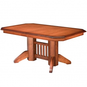 Pembrook Double Pedestal Amish Dining Table