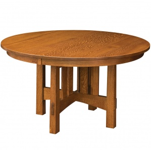 Del Mar Round Amish Dining Table
