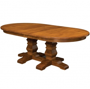Walden Double Pedestal Amish Dining Table