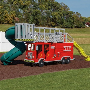 Ladder Fire Truck Playset