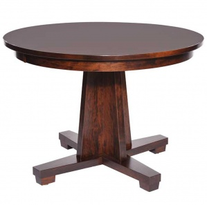 Modern Mission Single Pedestal Table