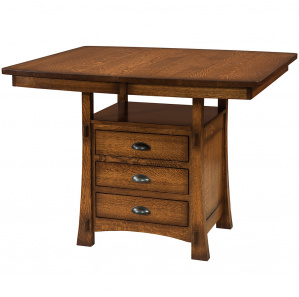 Modesto Amish Cabinet Counter Table
