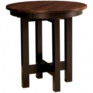 LaCrosse Round Amish Pub Table