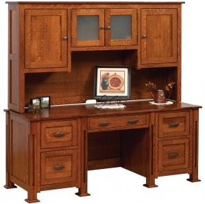 Parker Mission Desk & Hutch Option
