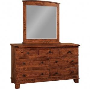 Larado Amish Dresser with Mirror Option