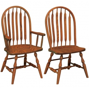 Bent Paddle Amish Dining Chairs