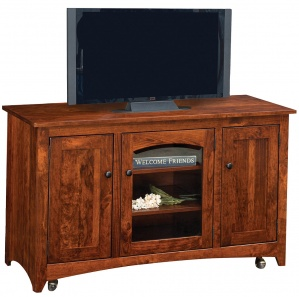 Lago Amish TV Stand with Casters