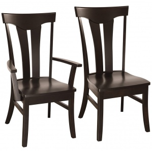 Elementals Amish Dining Chairs with Live Edge Option