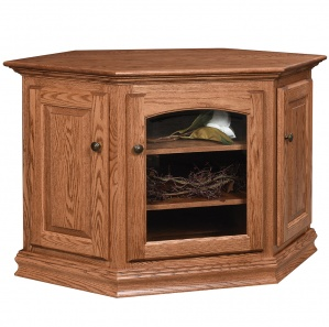 Riverside Corner TV Cabinet with Casters