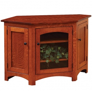Lago Corner TV Cabinet with Casters