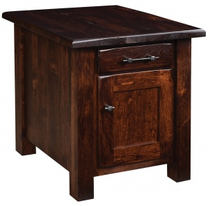 Barn Floor End Table with Door