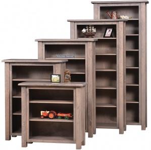 Barn Floor Amish Bookcase with Door Option