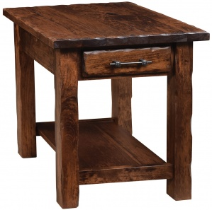 Hand Hewn Amish End Table