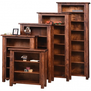Hand Hewn Bookcase with Optional Doors