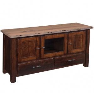 Reclaimed Barnwood 3 Door Amish TV Stand