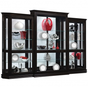 Charmer 3 Piece Sliding Door Amish Curio Cabinet