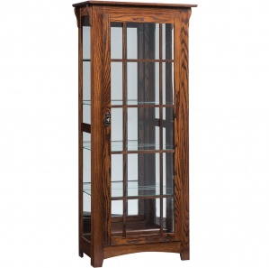 Weston Single Door Amish Curio Cabinet