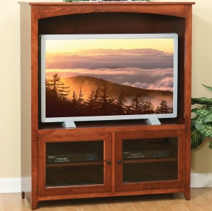 Linden Glass Door Entertainment Center