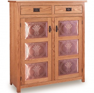 Tall Mission 3 Panel Amish Pie Safe