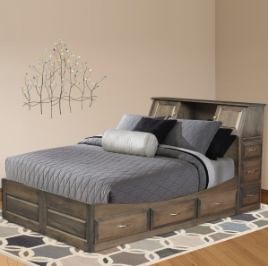 Bella Amish Platform Bed with Storage