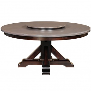 Rocky Point Amish Dining Table with Lazy Susan Option