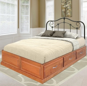 Amish Platform Bed with Drawers