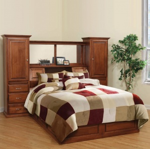 Traditional Mission Amish Platform Bed