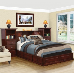 Merrill Hill Deluxe Amish Platform Bed with Drawers