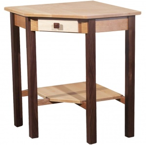 Triwood Corner Amish End Table