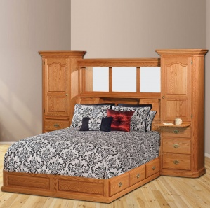 Castleton Amish Platform Bed with Storage Unit