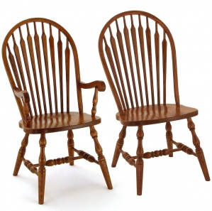 Classic High Shell Bowback Amish Dining Chairs