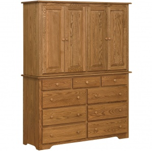 New Albany Amish Double Armoire