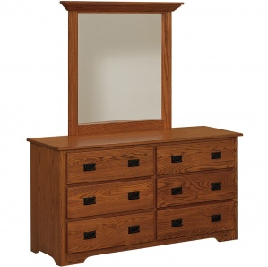 Harmony Amish Dresser with Mirror Option