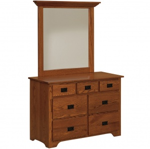 Harmony Small Amish Dresser with Mirror Option