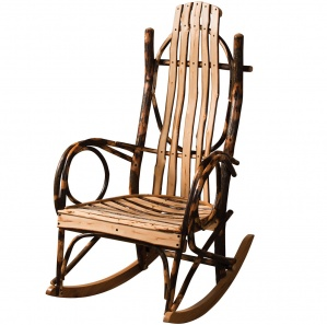 Hickory Live Edge Amish Rocking Chair
